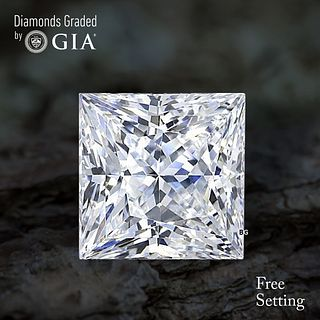 4.56 ct, G/VVS2, Princess cut Diamond. Unmounted. Appraised Value: $231,400