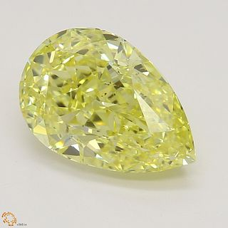 2.01 ct, Natural Fancy Intense Yellow Even Color, SI1, Heart cut Diamond (GIA Graded), Unmounted, Appraised Value: $43,200