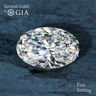 7.11 ct, E/VS2, Oval cut Diamond. Unmounted. Appraised Value: $655,800