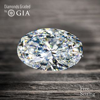 1.00 ct, E/VVS2, Oval cut Diamond. Unmounted. Appraised Value: $11,700