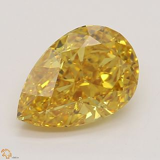 1.02 ct, Natural Fancy Vivid Yellow Orange Even Color, SI1, Cushion cut Diamond (GIA Graded), Unmounted, Appraised Value: $113,200