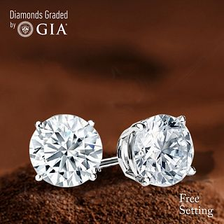 6.39 carat diamond pair TYPE IIA Round cut Diamond GIA Graded 1) 3.16 ct, Color D, FL 2) 3.23 ct, Color D, FL. Unmounted. Appraised Value: $926,600