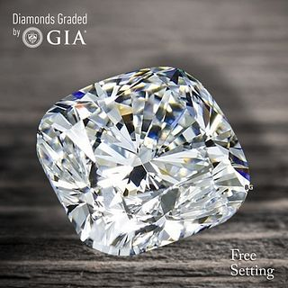3.02 ct, F/VVS2, Cushion cut Diamond. Unmounted. Appraised Value: $126,800