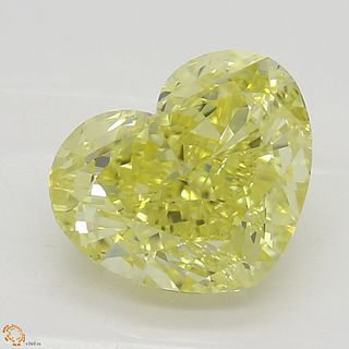 1.57 ct, Natural Fancy Intense Yellow Even Color, VS2, Cushion cut Diamond (GIA Graded), Unmounted, Appraised Value: $25,300