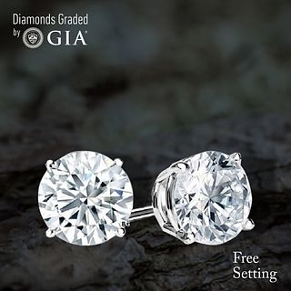 4.02 carat diamond pair Round cut Diamond GIA Graded 1) 2.01 ct, Color I, VVS2 2) 2.01 ct, Color I, VVS2. Unmounted. Appraised Value: $81,000