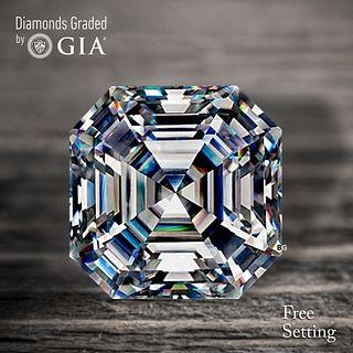 4.08 ct, D/VS1, Sq. Emerald cut Diamond. Unmounted. Appraised Value: $301,900