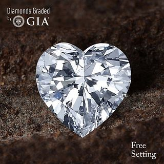 4.01 ct, D/VS2, Heart cut Diamond. Unmounted. Appraised Value: $268,600