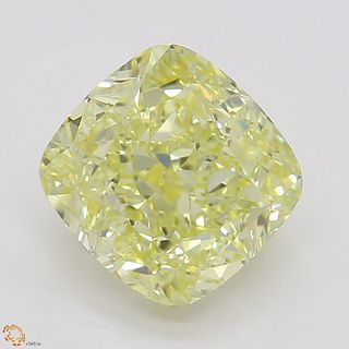1.71 ct, Natural Fancy Yellow Even Color, IF, Radiant cut Diamond (GIA Graded), Unmounted, Appraised Value: $27,700