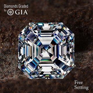 5.08 ct, H/VVS2, Sq. Emerald cut Diamond. Unmounted. Appraised Value: $325,100