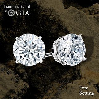 10.54 carat diamond pair Round cut Diamond GIA Graded 1) 5.18 ct, Color H, VS1 2) 5.36 ct, Color H, VS1. Unmounted. Appraised Value: $737,800