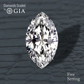 2.02 ct, E/VVS1, Marquise cut Diamond. Unmounted. Appraised Value: $61,800