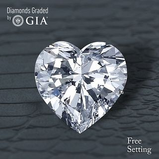 1.00 ct, D/VVS1, Heart cut Diamond. Unmounted. Appraised Value: $17,700