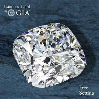 5.01 ct, D/VS2, Cushion cut Diamond. Unmounted. Appraised Value: $495,900