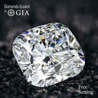 3.06 ct, D/VVS2, Cushion Bri. cut Diamond. Unmounted. Appraised Value: $157,900