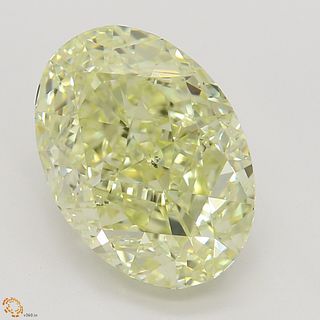 3.01 ct, Natural Fancy Light Yellow Even Color, SI1, Heart cut Diamond (GIA Graded), Unmounted, Appraised Value: $38,500