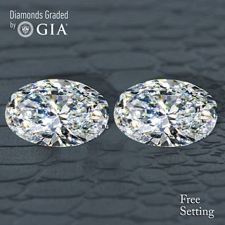 3.02 carat diamond pair Oval cut Diamond GIA Graded 1) 1.51 ct, Color G, VS1 2) 1.51 ct, Color G, VS2. Unmounted. Appraised Value: $39,500