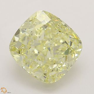 1.70 ct, Natural Fancy Yellow Even Color, VVS2, Cushion cut Diamond (GIA Graded), Unmounted, Appraised Value: $24,700