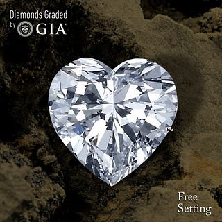 1.59 ct, D/VVS2, Heart cut Diamond. Unmounted. Appraised Value: $34,600