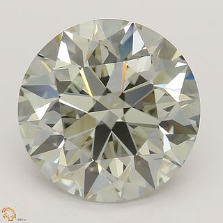 3.21 ct, Natural Light Yellow Green Color, VS2, Oval cut Diamond (GIA Graded), Unmounted, Appraised Value: $50,300