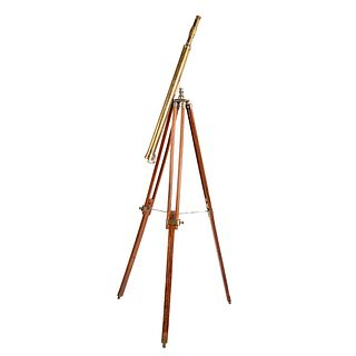 Victorian Brass Telescope with Tripod Stand