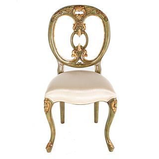 Maitland-Smith Louis XV Style Painted Chair