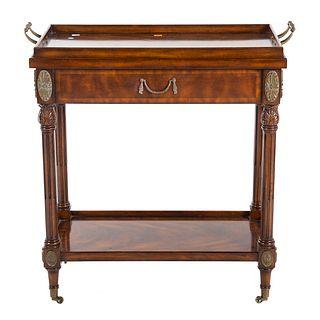 Maitland-Smith Regency Style Mahogany Tea Cart