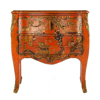 Maitland-Smith Louis XV Style Japanned Commode