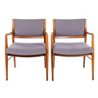 Pair of Danish Mid-Century Style Arm Chairs