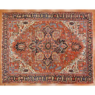 Antique Heriz Carpet, Persia, 9.7 x 12.3