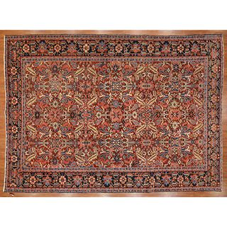 Antique Heriz Carpet, Persia, 9.7 x 13.1