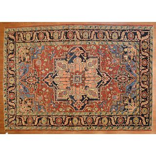 Antique Heriz Rug, Persia, 7.10 x 11