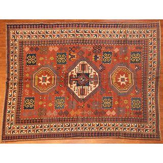 Antique Kazak Rug, Caucasus, 6.6 x 7.5