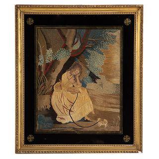 19th Century British Needlework Picture