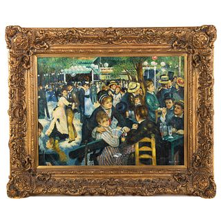 "After Renoir. ""Bal du Moulin de la Galette,"" oil"