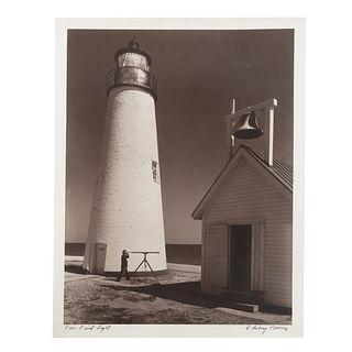"A. Aubrey Bodine. ""Cove Point Light,"" photograph"