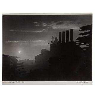 "A. Aubrey Bodine. ""Power House and Lumber Yard"""