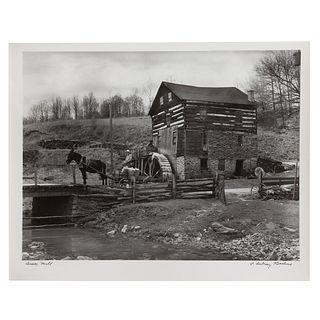 """A. Aubrey Bodine. """"Amos Mill,"""" photograph"""