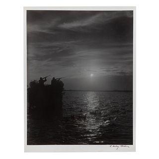 "A. Aubrey Bodine. ""Taking Aim,"" photograph"