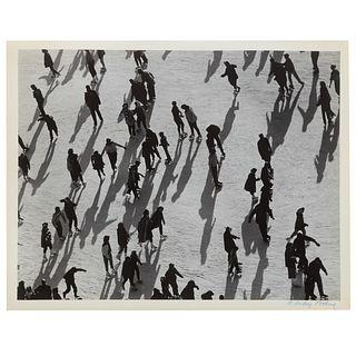"A. Aubrey Bodine. ""Ice Skaters,"" photograph"