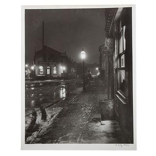 "A. Aubrey Bodine. ""Winter Night,"" photograph"