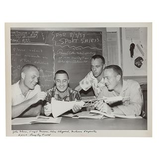 "A. Aubrey Bodine. ""N.A.S.A Astronauts,"" photo"