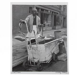 "A. Aubrey Bodine. ""Fish Monger,"" photograph"
