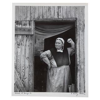 "A. Aubrey Bodine. ""Amish Woman,"" photograph"