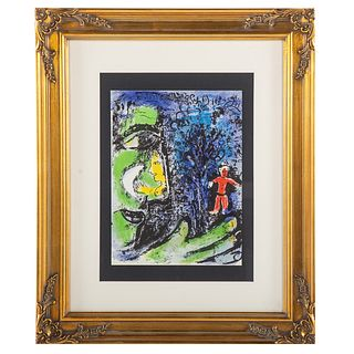 "Marc Chagall. ""Profile and Red Child,"" lithograph"