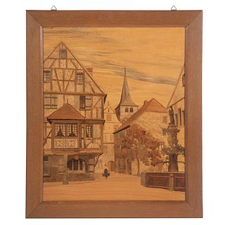 Continental Mixed Wood Marquetry Picture