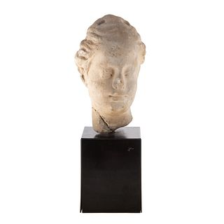Hellenistic Carved Sandstone Female Head