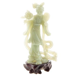Chinese Carved Jade Quan yin