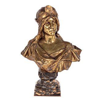 Eugene Villanis, Bronze Bust of Exotic Beauty