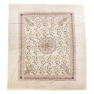 American Needlepoint Cotton Coverlet