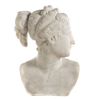 Grande Tour Carved Marble Bust of Nymph